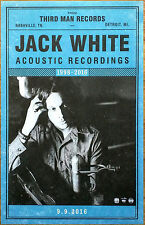 JACK WHITE Acoustic Sessions 1998-2016 Ltd Ed RARE Lithograph Poster! THIRD MAN