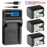 Kastar Battery LCD Charger for JVC BN-VG121U JVC Everio GZ-MS210 Everio GZ-MS215