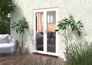 1200mm CLIMADOOR Classic White External French Door Pair - Fully Finished