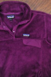 Patagonia Re-Tool Snap-T Pullover Violet Red (Purple)  Women's XL