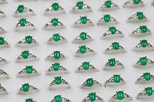 Wholesale Jewelry lots 15pcs Imitated Green Jade Women's Unisex Rings