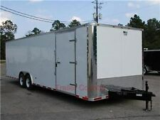 New 85x28 85 X 28 Enclosed Cargo Carhauler Trailer