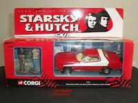 CORGI 57402 STARSKY + HUTCH FORD GRAN TORINO DIECAST RED CAR + METAL FIGURES