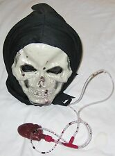 Dripping Bleeding Adult Black w Red Hood Halloween Mask
