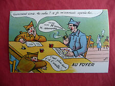 CPA carte postale ancienne humoristique militaire BIDASSE AU FOYER  ww2 , MAY'R