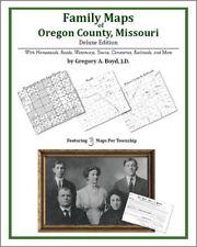 Family Maps Oregon County Missouri Genealogy MO Plat