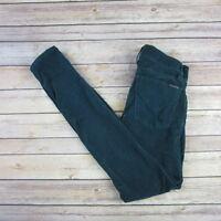 HUDSON Women's Spark Super Skinny Velveteen Pants SIZE 24 Teal