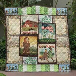 Girl Scout Cookies 3D Customized Quilt - Fleece Blanket Printing In USA