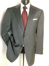 Hart Schaffner Marx Gold Trumpeter Brown Striped 2BNT Suit 43R pants 38W/32L
