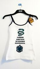 Harry Potter Slytherin White Pyjama Top New Small Size 6-8 Hispter Festival Used