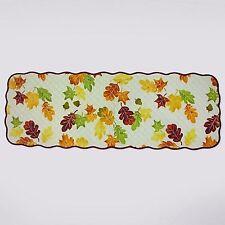 "Celebrate Thanksgiving Fall Orange Yellow Leaves Cotton Table Runner 13""x36"""