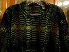 Jhane Barnes FAB Mens Sweater Purple Green Blue Chevron Abstract XL 2XL