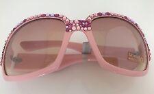 LZ New York Pink Sunglasses Pink Swarovski Crystals, Style# SGY026, UV 400