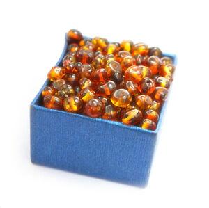 Baltic amber loose beads 50 pcs cognac