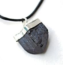 Crystal of Protection - Black Tourmaline Raw Natural Gemstone Pendant Necklace