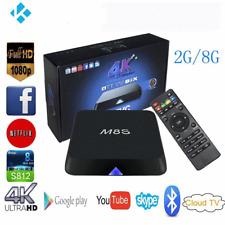 M8S Android 4.4 Smart TV Box S812 Quad Core 2G+8G H.265 3D 4K Media Player