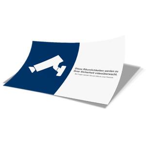 Aufkleber Folie Videoüberwachung DIN A6 Sicherheit Objektschutz Diebstahl