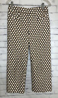 So Slimming By Chico's Sz 00 Crop White Good Blue Elastic Waist Pull On Pants