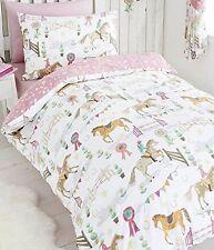 Horses Animals Girls Single Quilt Duvet Cover   Pillowcase Bedding Bed Set New