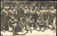 WW1 HARDENED VETERANS SOLDIERS PATOON FRENCH ARMY RPPC ANTIQUE PHOTO POSTCARD