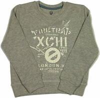 Firetrap Boys Crew Neck Sweatshirts Long Sleeve Grey Marl Jumpers