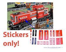DB Schenker Railion Stickers Lego 3677 Cargo Train Red Custom Decals 10219 Decal
