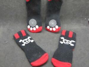 Pet Socks for Cat or Small Dog Pirate theme Costume Skull & Crossbones Set of 4
