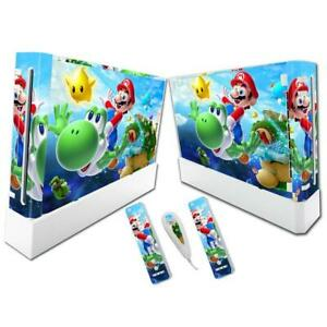 SUPER MARIO PROTECTOR COVER DECAL WRAP VINYL SKIN STICKER FOR NINTENDO WII