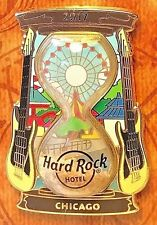 Hard Rock Cafe Chicago Hotel 2017 Sand Clock Series Hourglass Pin LE New # 93027