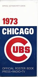 1973 CHICAGO CUBS MLB MEDIA GUIDE VINTAGE FREE SHIPPING