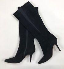 c3fe95f93611 JIMMY CHOO Black Suede Knee High Stiletto Boots