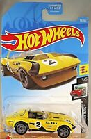 2019 Hot Wheels #53 HW Roadsters 3/5 CORVETTE GRAND SPORT ROADSTER Yellow w/Gry5