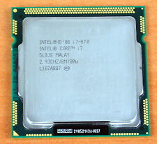Intel Core i7 870 2.93 ghz quad-processeur Core L3 8M socket 1156 cpu SLBJG 95W