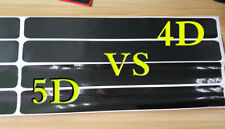 4x 5D Carbon Fiber Pre-Cut Car Door Plate Sill Scuff Cover Protector Sticker US