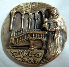 Saint Anthony Pontifical delegation Franciscan Community bronze medal 60 mm N132