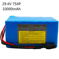24V 10AH Li-ion Battery 29.4V Rechargeable Bicycle 500W E Bike Electric Li-ion