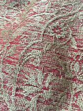 Osborne & Little Gold & Red Velvet Damask Burgundy Curtain Upholstery 143x150cm
