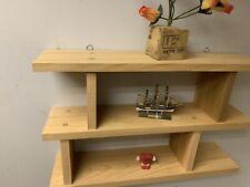 Reclaimed  wood western red cedar Wall SHELF  handmade 3 Tiers