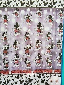 Unused Mickey Unlimited MICKEY MOUSE CIRCLE DOTS VINYL SHOWER CURTAIN Red Black