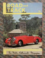 ROAD & TRACK Magazine 1951 Auto Racing ALFA Romeo RITA HAYWORTH Bonneville MG 51