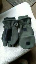 Mens XL fleece fingerless flip over mittens