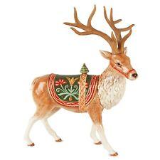 Fitz & Floyd Bianco Reindeer Deer Figurine New in Box Christmas Hard to Find