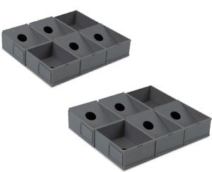 2 BCW Modular Sorting Trays