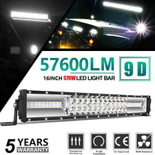 16inch 1300W Led Light Bar Dual Row Spot Flood Combo Work UTE Truck SUV ATV 17''