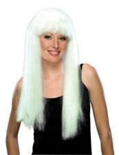 NEW WOMENS LONG GLOW IN THE DARK WIG Party Supplies
