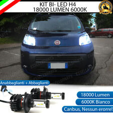 KIT LED H4 6000K FIAT QUBO 18000 LUMEN CANBUS XENO XENON 100% NO ERRORE