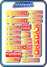 KYOSHO MODEL RC CAR DRONE BOAT BUGGY MINI Z STICKERS DECALS ROBOT R/C YEL/RED W