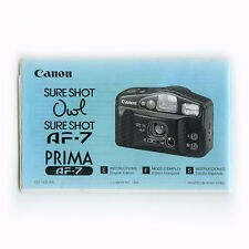 Canon sureshot AF-7 Instructions