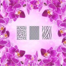 Set: patrón-e, aerógrafo Nail Art Stencil Autoadhesivo diferentes motivos 60 P
