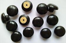 12x BLACK Solid Wood Door Knobs DEFECTS handle drawer cupboard screws Wooden